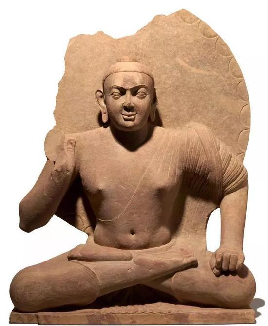 早期的秣菟罗佛像,公元2世纪,澳大利亚国家美术馆藏。这肉体相当明显了