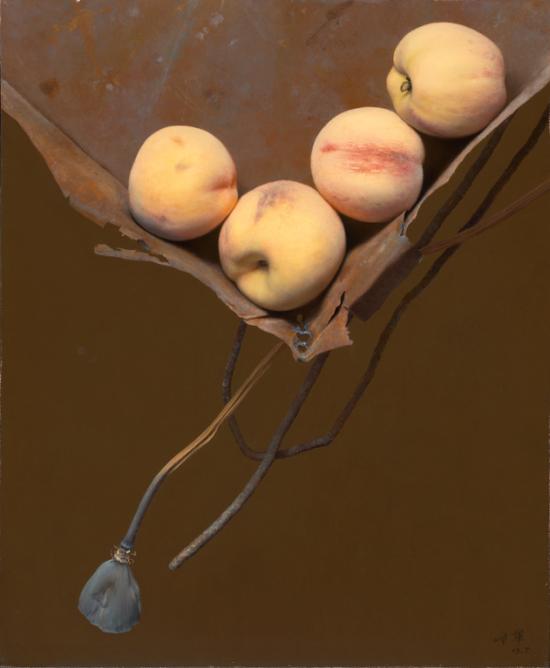 冷军《铁盒子与桃之一》46X38cm2003年