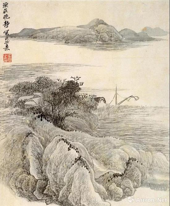 吴历 仿古山水册之五 南京博物院藏
