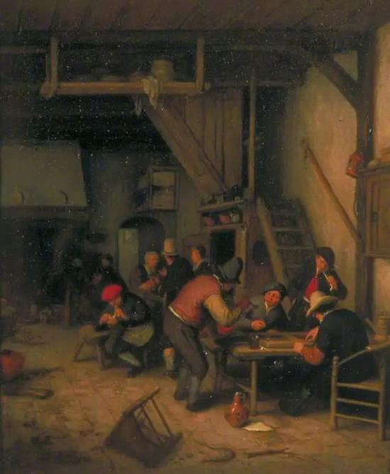 Tavern with Tric-Trac or Backgammon Players, 1669–1674