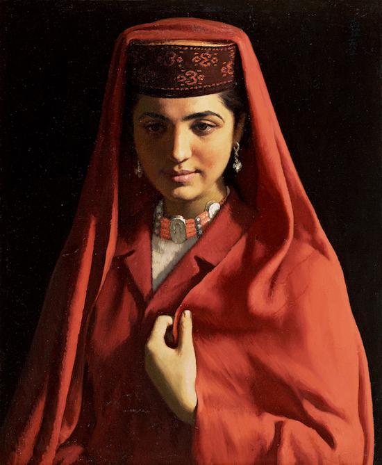 靳尚谊 塔吉克新娘 60cm×50cm 布面油彩 1984 中国美术馆藏