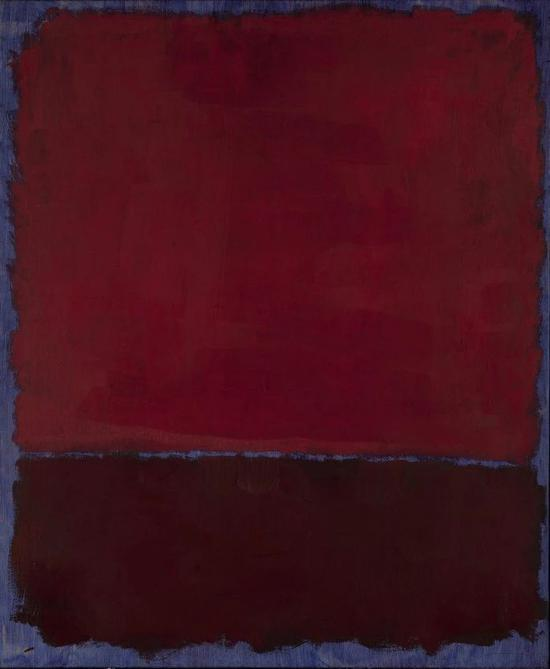 马克?罗斯科,《无题(蓝色上的红与酒红)》,1969年作,估价9,000,000–12,000,000美元