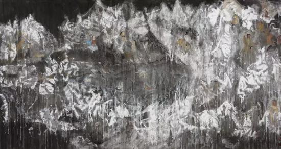 舍筏,160x300cm,纸本水墨,2019