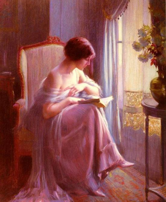 《窗边阅读的女人》 1930年 德尔菲恩·恩霍拉斯 法国