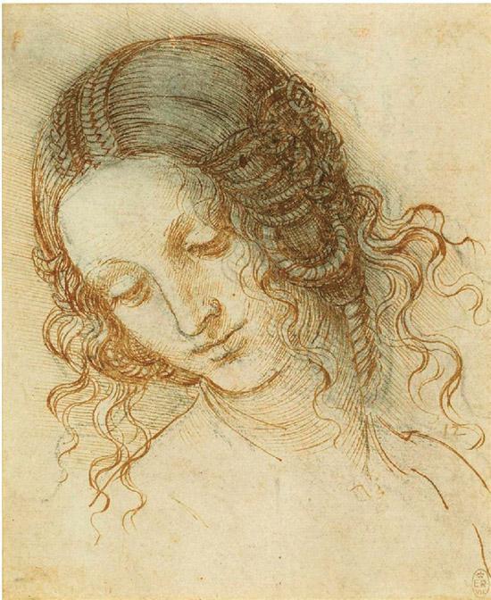 达·芬奇勒达的头部约1505-1508年