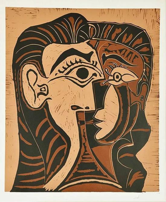 △毕加索的女人头像 (Tête de Femme)