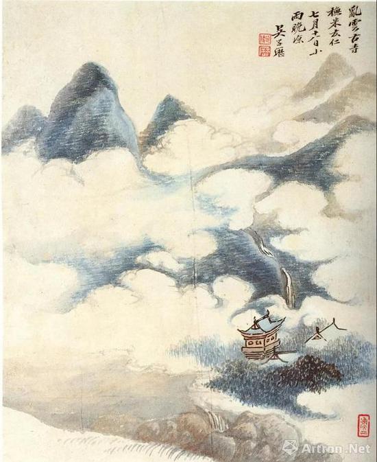 吴历 仿古山水册之一 南京博物院藏