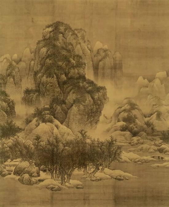 ▲ 《雪景寒林图》 范宽 天津市博物馆藏