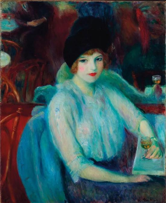 威廉-格拉肯斯《拉法叶咖啡厅(凯-刘雷尔的肖像》79.25万美元成交