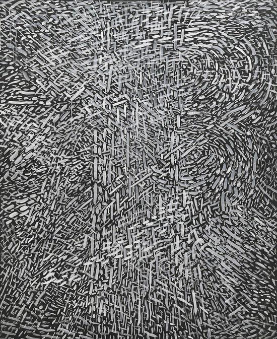 余友涵《抽象1988-1》亚克力布面