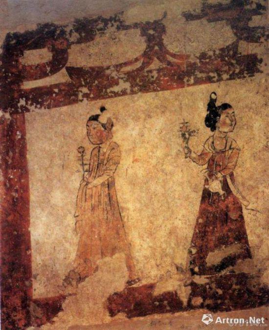 李凤墓壁画中的侍女