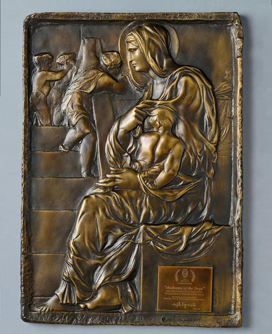 ?Michelangelo,Madonna of the Steps,Bronze