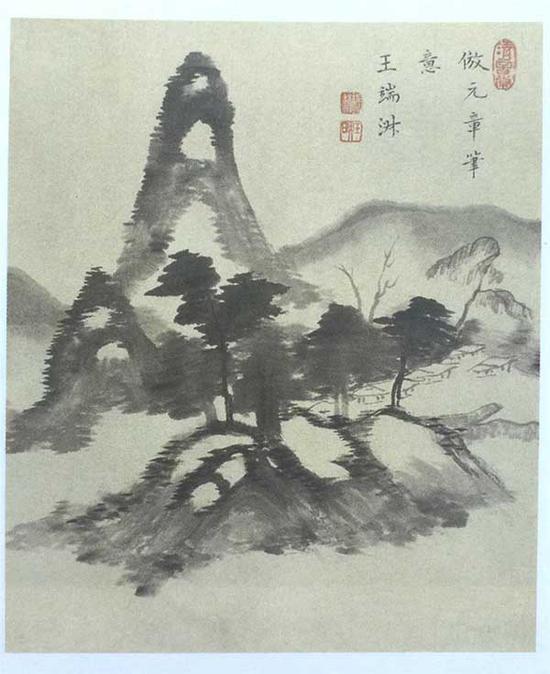 图3 王端淑 山水图 册 纸本墨笔 纵22.6厘米 横20.5厘米 故宫博物院