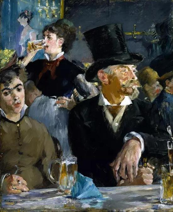 ▲ 雷什奥芬的咖啡馆音乐会 47.3x39.1cm 布面油画 1878