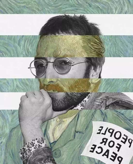 梵高的自画像与约翰列侬