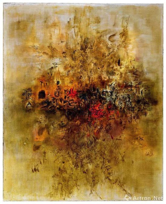赵无极《大地无形》1956-1957年作油彩画布 200.4×162.3cm