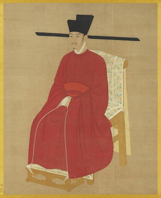 《宋哲宗坐像 》 台北故宫博物院藏