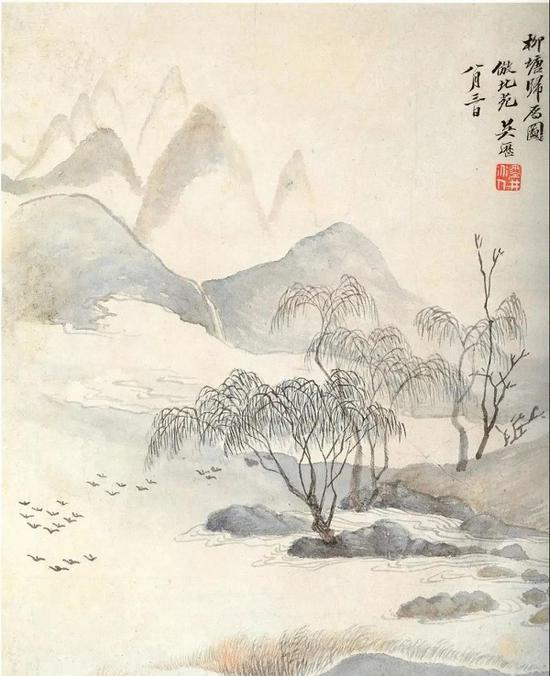 吴历 仿古山水册之四 南京博物院藏