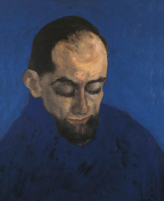 《阅读中的乔纳森 》1960(Jonathan reading)绘画 板上绘画 64 x 51 cm
