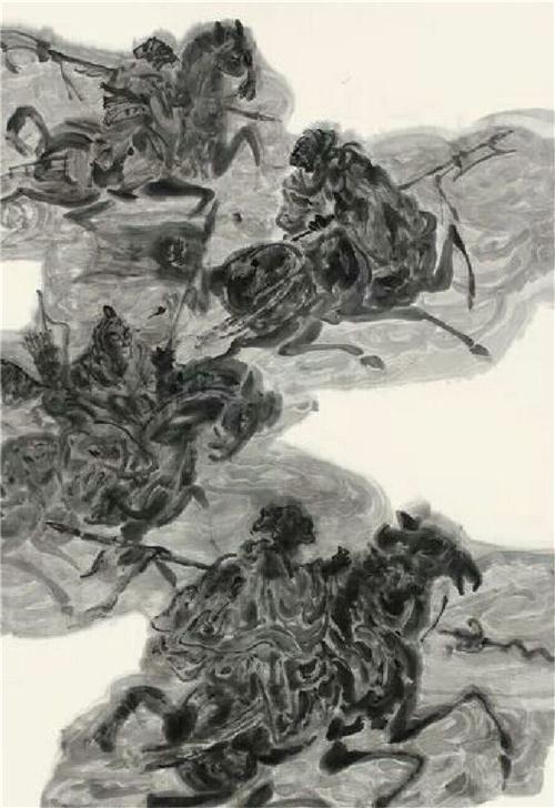《刀马图》180×97cm 2012年作