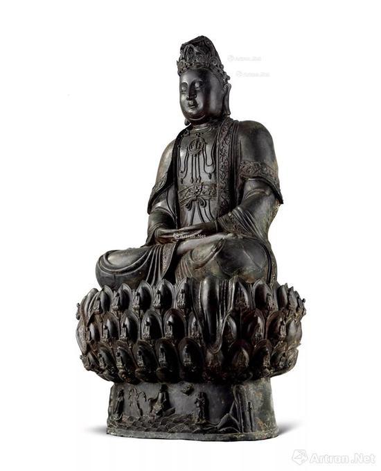 NO.22元 明 青铜观世音菩萨坐像