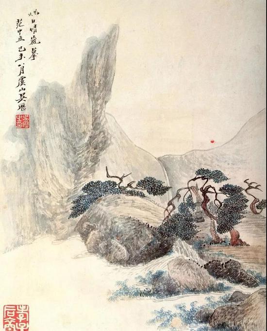 吴历 仿古山水册之二 南京博物院藏