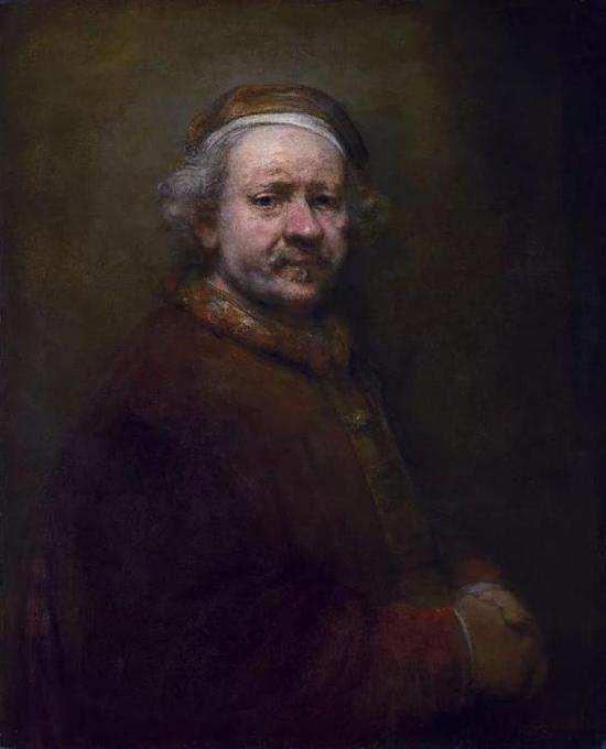 伦勃朗,《自画像》,布面油画,1669年,英国国家美术馆