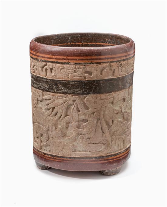 睡莲蛇纹陶罐