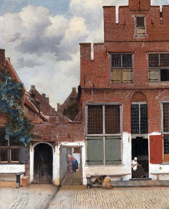 维米尔,《小街》, 1657 –1658