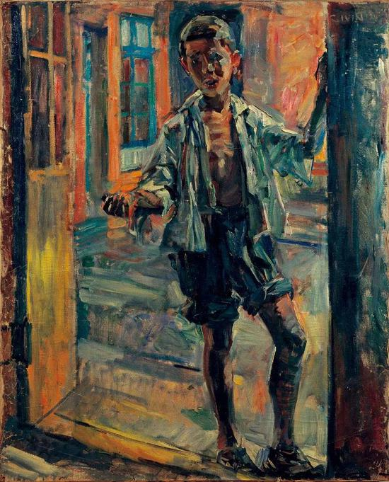 董希文 小乞丐 布面油彩 100x80cm 1947年