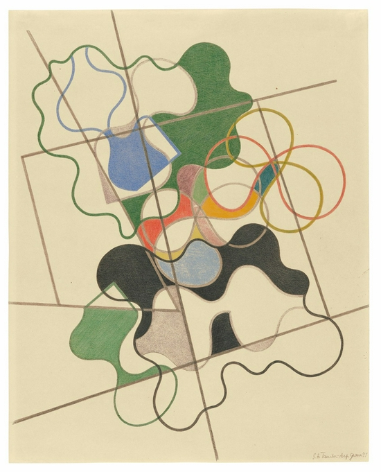 苏菲·陶柏-阿尔普,《Geometric and Undulating》,1941年
