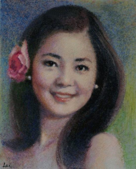 董蕾 丝彩画《邓丽君》