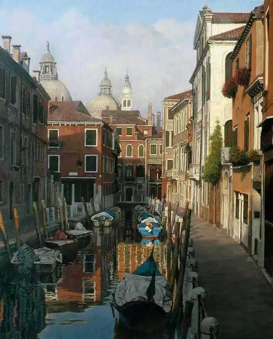 刘七一 午后威尼斯 绘画