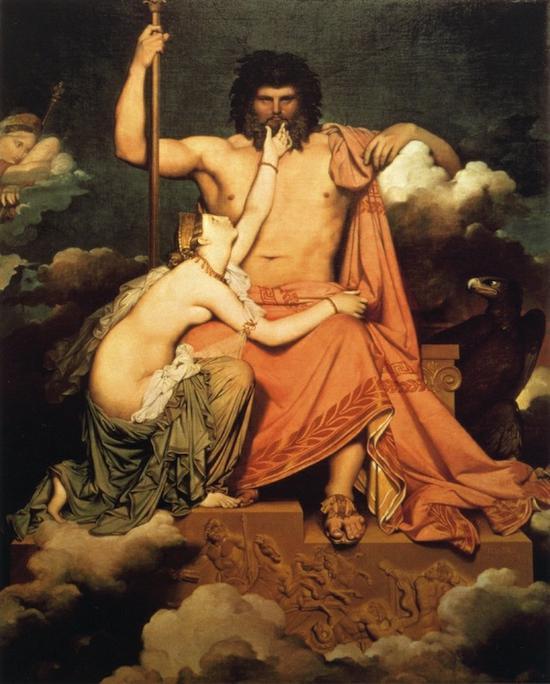 J-A-D·安格尔(1780-1867)《朱庇特和忒提斯》1811 年,蒙托邦,安格尔博物馆。