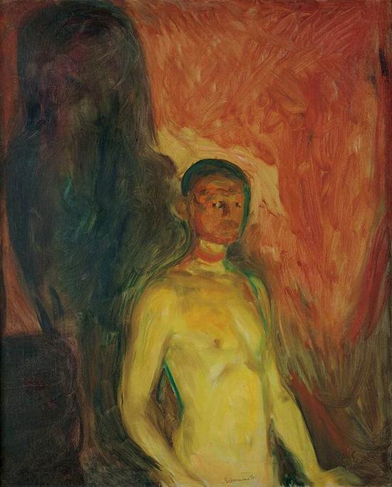 地狱里的自画像 1903年 油彩、油画