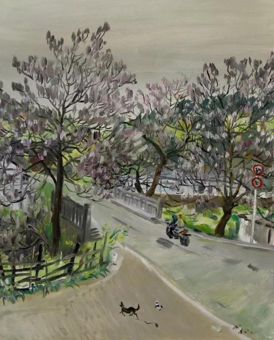 《紫色的浪漫》油画 刘沛沛