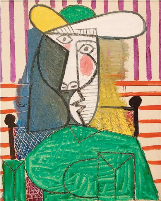 毕加索 女子半身像 1944年