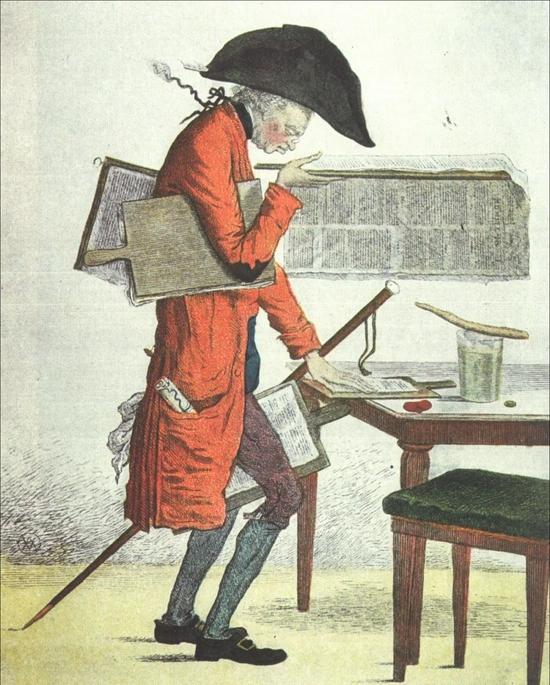 法国漫画《政治家的午餐》1815年 无名氏作。