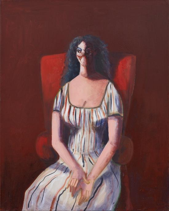 乔治·康多《红色椅子上的女人》(2007年作)