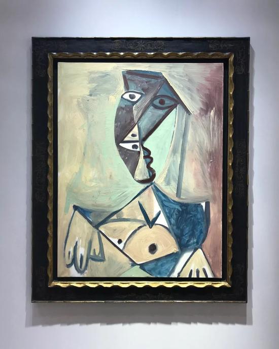 巴勃罗·毕加索《女人的胸部》,油彩画布,1971年