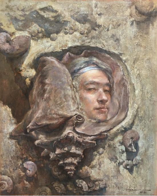 王俊《远古的回眸》41×51cm