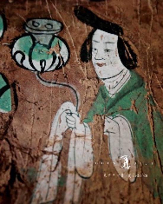 炳灵寺无量寿佛供养人像及局部