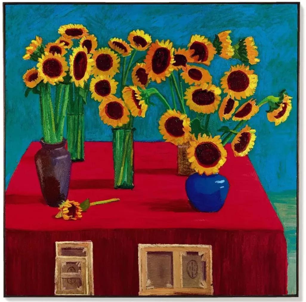 大卫?霍克尼《三十朵向日葵》 1996年作,油画画布,182.9 x 182.9 公分 估价待询