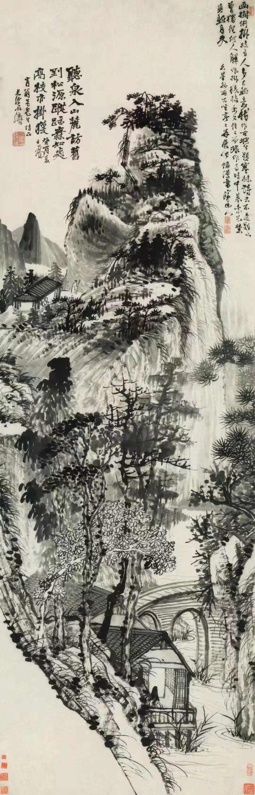 石濤巨制《山麓聽泉圖》在榮寶春拍1.2億元成交