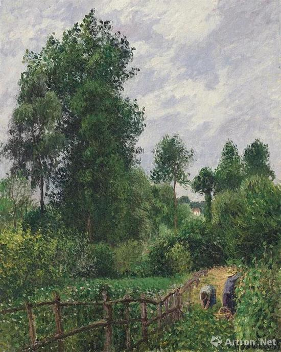 ▲卡密尔·毕沙罗《有白杨树的风景(埃拉尼的阴天)》