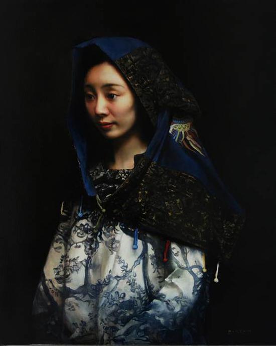 邸可新《青韵》100×80cm油画2016年