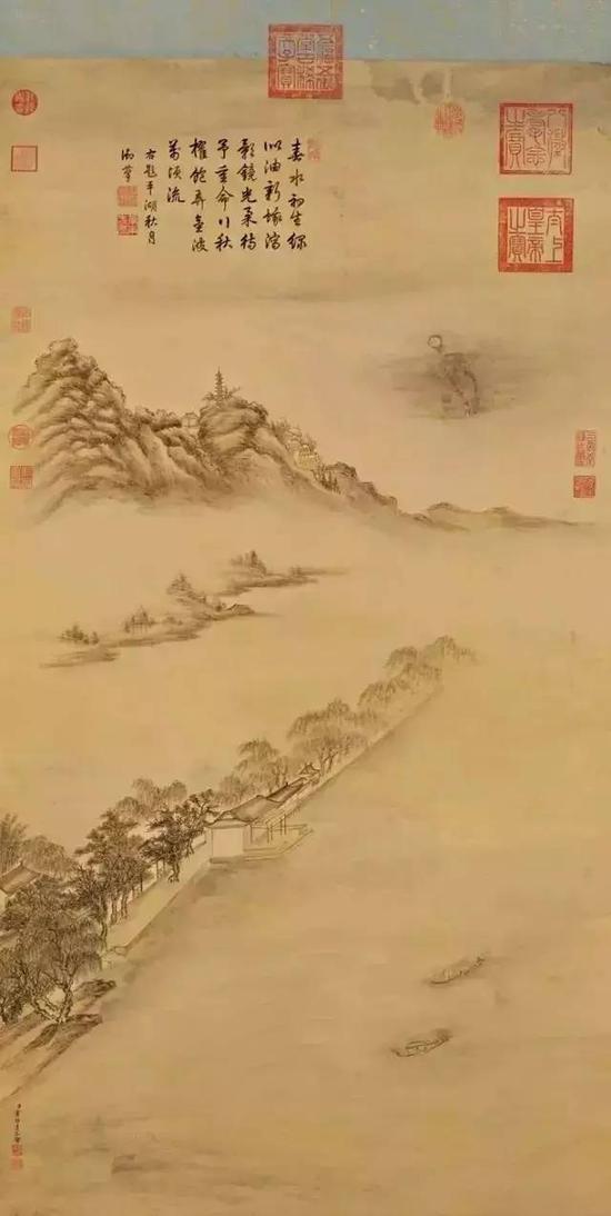 清 董邦达《平湖秋月·西湖八景》