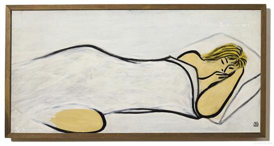 常玉《睡美人》 油彩木板50x100cm1950年代作 成交价:4687.75万港元