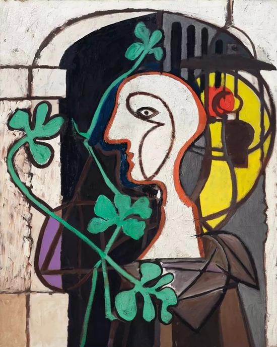 巴布罗·毕加索《灯》油彩 画布 162.5 x 130.4 cm.1931年1月21日至6月8日作于波舍鲁城堡 成交价:2956.25万美元