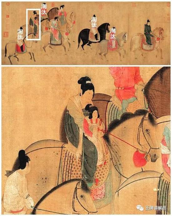不过,画家对这位成年妇女的描绘堪称全画的神来之笔: